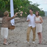 Natalie and Matijiis from Holland enjoy their simple beach wedding at Newell Beach